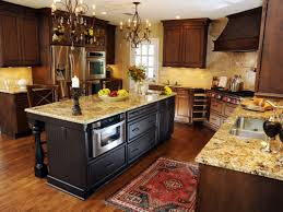 Tuscan Kitchen Islands by Kitchen Decorating Design Ideas Using Rectangular Solid Walnut