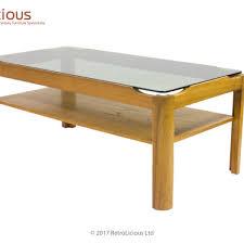 smoked glass coffee tables uk retro myer teak smoked glass coffee table g plan eames era