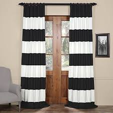 Black And White Draperies Black And White Striped Curtains Amazon Com