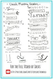 Bullet Journal Tips And Tricks by Classic Designs For Monthly Headers In Bullet Journal Bullet