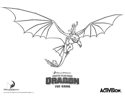toothless flying in how to train your dragon coloring pages paint