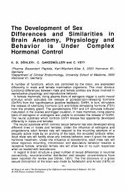 Anatomy And Physiology Of The Brain The Development Of Differences And Similarities In Brain