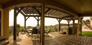 deck w latticed walls u0026 diy pergola kit western timber frame
