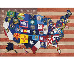 College Wall Decor State Flag Map Of The Usa Products For Dorms Best College Wall