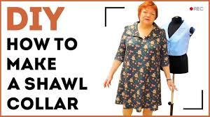 diy how to make a shawl collar making a sewn in shawl collar