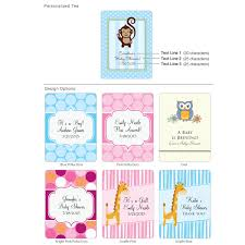 Tea Baby Shower Favors by Personalized Exclusive Baby Tea Favor Many Designs Available