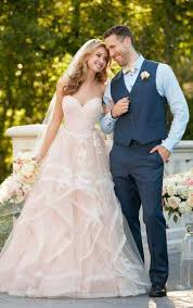 pink wedding dress pink floral bridal gown with textured skirt stella york