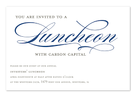 invited to lunch corporate invitations by invitation consultants