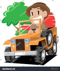 jungle jeep clipart young explorer stock vector 67000861 shutterstock