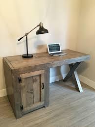 Rustic Wood Office Desk Best 25 Rustic Desk Ideas On Pinterest Wooden Office Pertaining