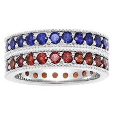 birthstone stackable rings for custom made birthstone eternity stackable ring in sterling silver