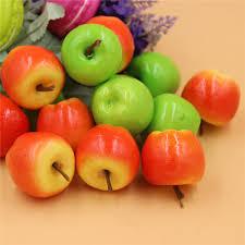 50pcs artificial mini apples multi colors faux fruit diy crafts