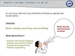 putting interests on resume a step by step guide for students ppt download