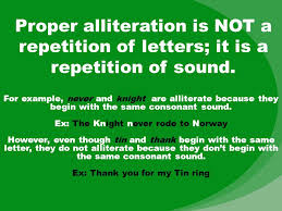 alliteration alliteration is the repetition of initial consonant