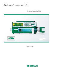 b braun perfusor compact s user manual intravenous therapy
