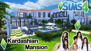 the sims 4 let u0027s build kardashian mansion house tour no cc