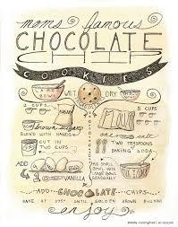 recette de cuisine a imprimer articles similaires à chocolate chip cookie recette illustration 8