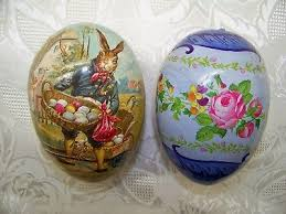 paper mache easter eggs 2 vintage nestler paper mache easter egg candy containers germany