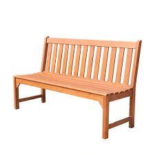 Outside Benches Home Depot by Vifah Malibu 5 Ft Armless Patio Bench V1638 The Home Depot