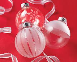 martha stewart etched glass ornaments project plaid