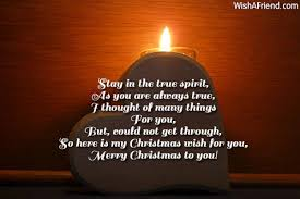 stay in the true spirit as christmas message for friends