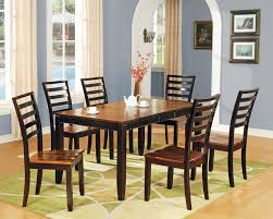 abaco 7 piece leg table and ladder back chairs belfort furniture