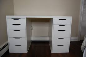 Bedroom Vanity White White Wooden Vanity Makeup Table With Two Side Drawers And Oval