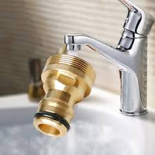 water hose connector for kitchen sink brass hose tap connector threaded garden water pipe quick