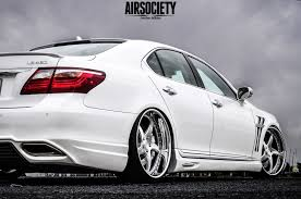 white lexus 2011 lexus ls460 bagged air ride suspension airsociety vipmodular 002