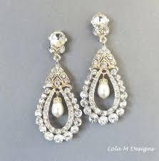 Chandelier Earrings Bridal Gold Pearl Chandelier Earrings U2013 Eimat Co