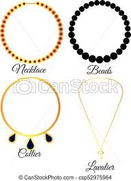 necklace types images Types of necklaces vector illustration clip art vector search jpg