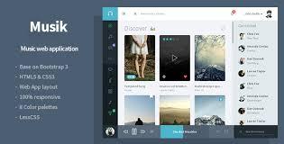 musik music web application template by flatfull themeforest