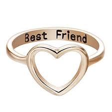 what is a friendship ring qiandi women s heart best friend promise ring gifts for