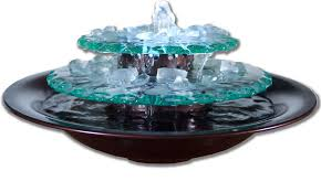 glass tabletop fountain pool design ideas