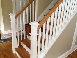 decor white baseboard design ideas with stair rails plus tan wall