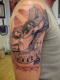 jesus tattoo sleeve on cross google search tattoo pinterest