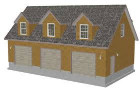 3 Car Garage Designs by G445 Plans 48 U0027 X 28 U0027 X 10 U0027 Cape Cod Garage Plans Blueprints With