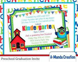 kindergarten graduation invitations preschool graduation invitations jankoelling me