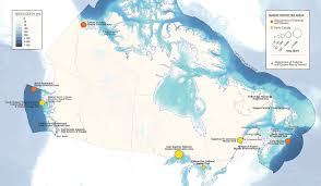 Canada Territories Map by Canada U0027s National Marine Protected Areas Interactive Map