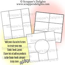 comic strip template for the love of crochet u0026 cards
