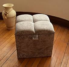 crushed velvet 1 diamante diamond ottoman storage footstool 16x16