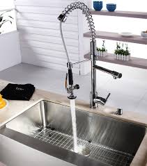 kraus commercial pre rinse chrome kitchen faucet kraus commercial pre rinse chrome kitchen faucet contemporary