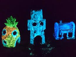 glow in the spongebob aquarium decoration fish tank ornaments