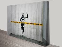 buy banksy art prints and street art graffiti canvas pictures online dont cross the line banksy
