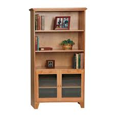 Office Bookcases With Doors Shaker Bookshelves With Glass Doors Real Hardwood Office Furniture