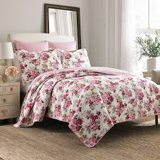 Duvet 100 Cotton Laura Ashley Lidia Cotton 3 Piece Reversible Quilt Set On Sale