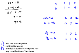 solving systems of linear equations with matrices