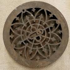 Floor Grates by 1882 Simonds Mfg Co Round Ornate Cast Iron Floor Register Grate