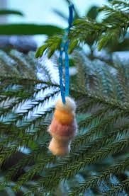 cute little ice cream cone needle felted wool christmas ornament