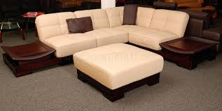 beige leather sectional sofa leather sectional sofa with built in side tables